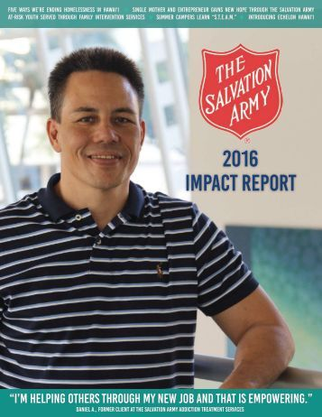 The Salvation Army Hawaiian & Pacific Islands 2016 Impact Report