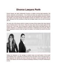 DivorceLawyersPerth