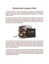 EmploymentLawyersPerth