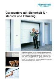 Garagentore mit Sicherheit für Mensch und Fahrzeug - Normstahl