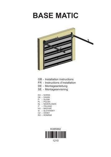 BASE MATIC - Crawford Normstahl Garagedeuren