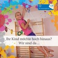 Imagebroschüre Interdisziplinäre Frühförderstelle CJD Erfurt