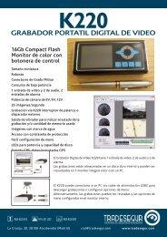 Grabador Digital K220 - Tradesegur