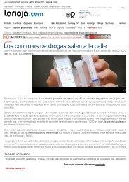 Los controles de drogas salen a la calle - Tradesegur