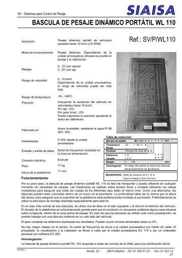 Báscula WL110 - Tradesegur