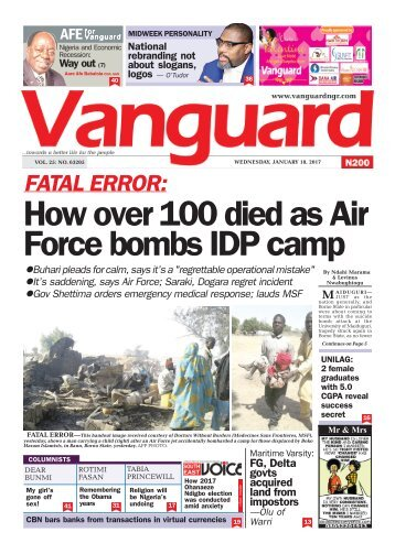18012017 - FATAL ERROR: How over 100 died as Air Force bombs IDP camp