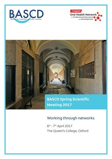 BASCD Spring Scientific Meeting 2017 Working through networks