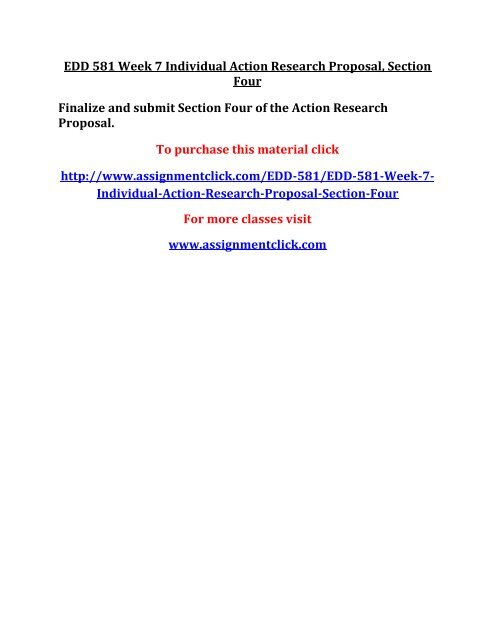 action research proposal edd/581