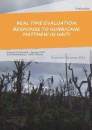 REAL TIMEEVALUATION RESPONSETOHURRICANE MATTHEWINHAITI