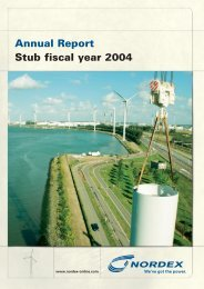 Annual Report Stub fiscal year 2004 - Nordex