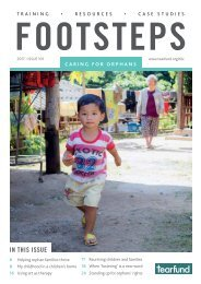 Footsteps 101 - Caring for orphans