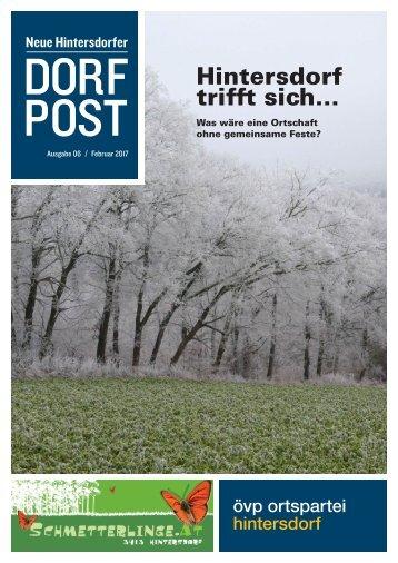Dorfpost Hintersdorf: Ausgabe 01 / Jänner 2017