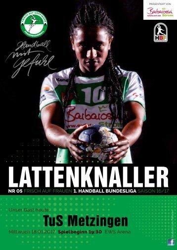 Lattenknaller 05 - 18.01.2017 - Saison 2016/17 - FRISCH AUF Frauen