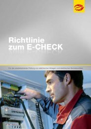 Richtlinien zum E-Check - Elektro Voesch GmbH