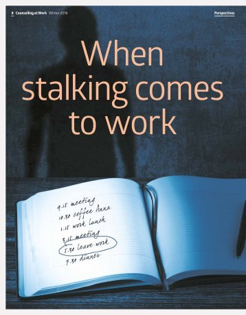 When stalking comes to work