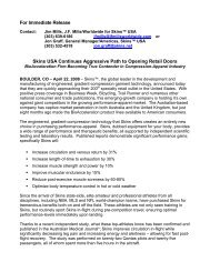 For Immediate Release Skins USA Continues Aggressive Path to ...