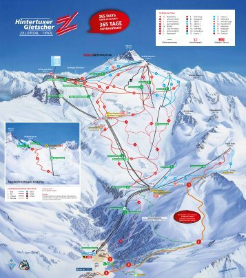 Pistenpanorama Hintertuxer Gletscher 2017