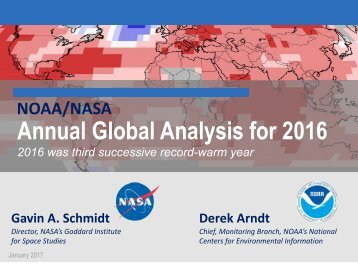 Annual Global Analysis for 2016
