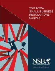 2017 NSBA SMALL BUSINESS REGULATIONS SURVEY