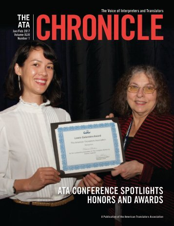 ATA CONFERENCE SPOTLIGHTS HONORS AND AWARDS