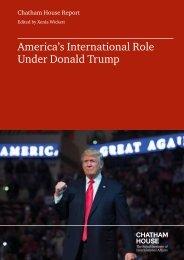 America's International Role Under Donald Trump
