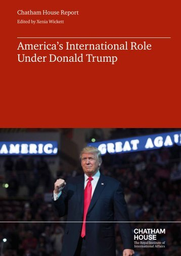 America's International Role Under Donald Trump
