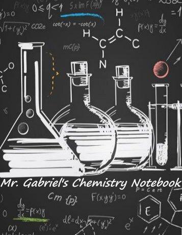 1st Semester Chemistry Notebook