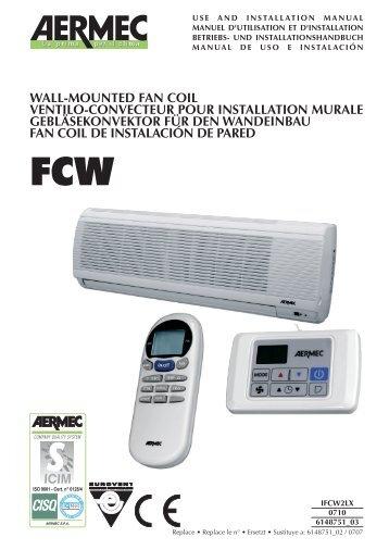 wall-mounted fan coil ventilo-convecteur pour installation murale ...