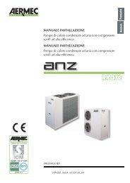 MANUALE INSTALLAZIONE Pompe di calore condensate ad aria ...