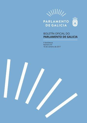 BOLETÍN OFICIAL DO PARLAMENTO DE GALICIA