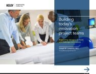 Building today's innovation project teams