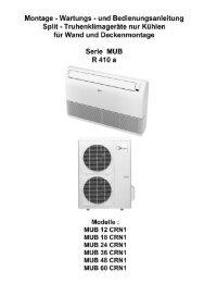 Betriebsart TIMER - Novatherm Klimageräte GmbH