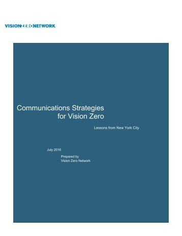 Communications Strategies for Vision Zero