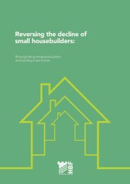Reversing the decline of small housebuilders