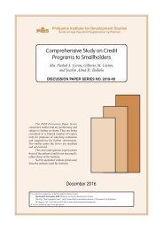 Comprehensive Study on Credit Programs to Smallholders