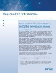 Magic Quadrant for E-Commerce - nubizz