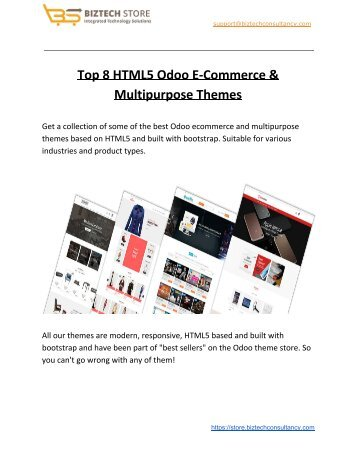 Responsive Odoo Ecommerce Store Themes