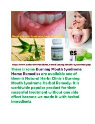 Burning Mouth Syndrome Home Remedies