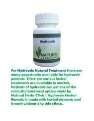 Hydrocele Natural Treatment Option