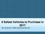 5 Safest Vehicles to Purchase in 2017