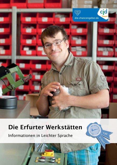 Imagebroschüre Erfurter Werkstätten
