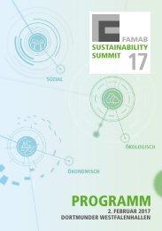 Programm Sustainable Summit 2017