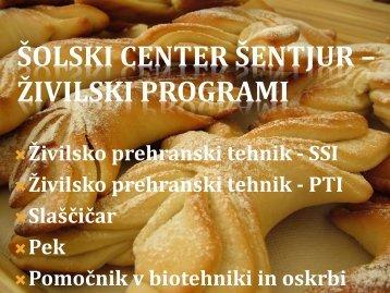 Predstavitev programov živilstvo