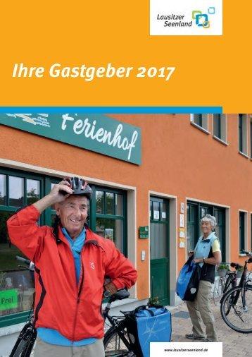 Gastgeberverzeichnis Lausitzer Seenland 2017