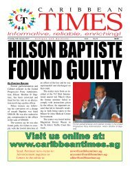 Caribbean Times 79th Issue - Thursday 19th January 2017