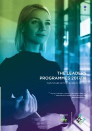 THE LEADERS PROGRAMMES 2017/18
