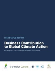 Business Contribution to Global Climate Action