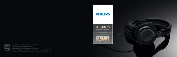 Philips Casque DJ professionnel - Brochure - ENG