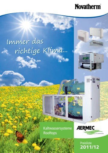 Kaltwasser-Kassettenklimageräte - Novatherm Klimageräte GmbH