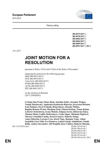 JOINT MOTION FOR A RESOLUTION EN EN